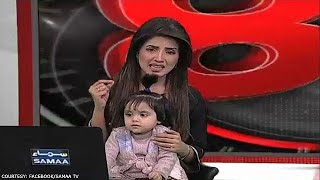 TV anchor brings young daughter on air to protest rape, killing of Pakistani girl