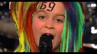 "6-Year-Old Girl Screams 6IX9INE -""BILLY ""-  America's Got Talent"