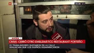 Cerró otro emblemático restaurante porteño por la crisis