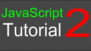 JavaScript Tutorial for Beginners - 02 - Statements
