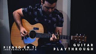 Pienso En Tí - Joss Favela & Becky G (Guitar Playthrough)