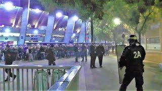 Incidents après le match PSG-Belgrade au Parc des Princes - Paris - 3 octobre 2018