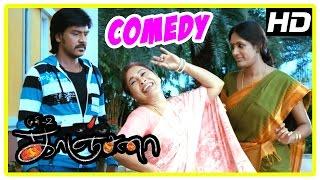 Kanchana | Tamil Movie Comedy | Part 1 | Raghava Lawrence | Kovai Sarala | Devadarshini | Muni 2 width=