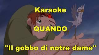 """Karaoke - Quando  - da """"Il gobbo di Notre Dame"""" -(Neri Per Caso) CON testo"""