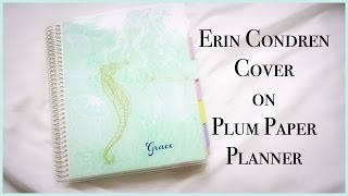Erin Condren Cover on Plum Paper Planner | Grace Go