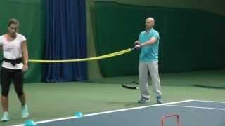 Kondičný tréning Dominiky Cibulkovej s trénerom Róbertom Bérešom, Fitness training of Domi Cibulkova