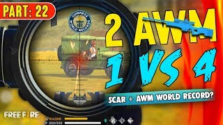 Solo vs Squad 2 AWM Try to make World Record - Garena Free Fire- Total Gaming