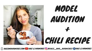 Healthy Slow Cooker Chili Recipe | Audition to Model| Weekly Vlog
