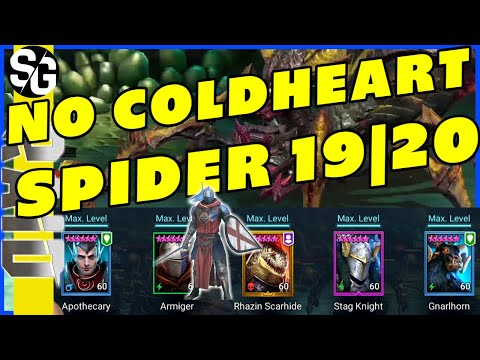RAID SHADOW LEGENDS | SPIDER 19 & 20 ARMIGER | NO COLDHEART