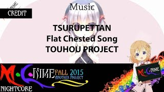 【 Nightcore 】Touhou Project - Tsurupettan (Flat Chested Song)