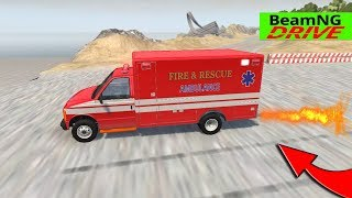 High Speed Jumps | Crashes #6 | BeamNG Monster Truck, Police car, Ambulance, Fire Truck