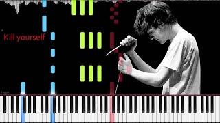 Bo Burnham // Kill Yourself   LyricWulf Piano Tutorial on Synthesia with lyrics