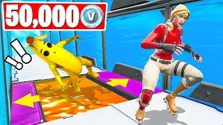 50,000 VBucks KWEBBELKOP vs SLOGOMAN Deathrun! (Fortnite Creative Challenge)