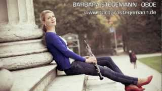 J. S. Bach - Partita in g-minor for Oboe Solo - 4th mvt - Bourrée anglaise- Barbara Stegemann