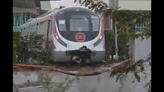In Graphics: Driverless Metro train runs backwards breaks through wall during trail run in