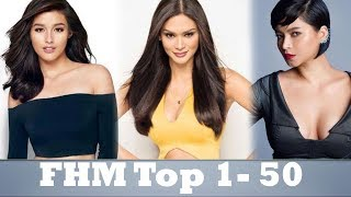 FHM 100 Sexiest 2017 (Top 1 - 50)