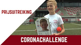 Screenshot van video Prijsuitreiking Coronachallenge