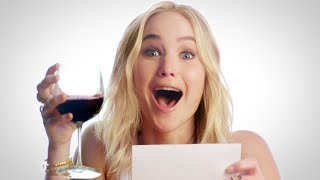 """Jennifer Lawrence Plays """"Movie Review or Wine Review?"""" // Omaze"""
