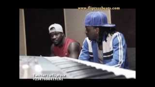 "Psquare in the studio with Fliptyce Beats - (The Making Of ""Chop My Money"")"