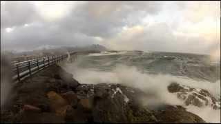 VIDEO. Atlantic Road din Norvegia, unul dintre cele mai frumoase dar si periculoase drumuri din lume