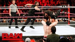 Seth Rollins & Dean Ambrose vs. Cesaro & Sheamus - Raw Tag Team Titles Match: Raw, Oct. 16, 2017