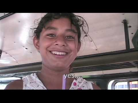 Message from a Cute Little Girl on a Chicken Bus;  Rivas, Nicaragua