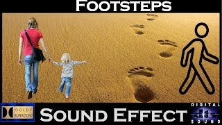 Sound Effects For Footsteps | Full Package | High Quality Audio