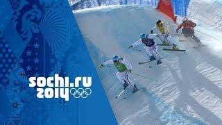 France Dominate The Men's Ski Cross Medals   Sochi 2014 Winter Olympics