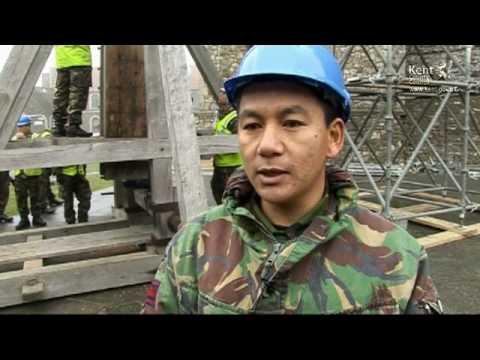 Gurkhas Move Catapult at Dover Castle (KTVarchive)
