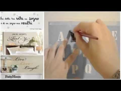 Come realizzare una scritta tridimensionale da muro fai for Scritte da parete