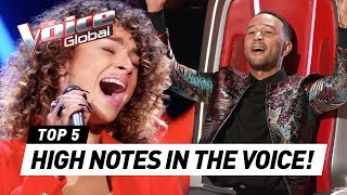 OUTSTANDING HIGH NOTES in The Voice