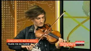 Nirvana   Smells like teen spirit -  Filip Jancik Violin) TV JOJ - Noviny o 12:00