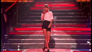 Taylor Swift Performing We are Never Ever Getting Back Together Live on Dancing With the Stars
