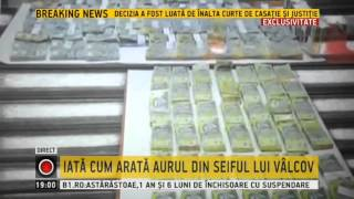 Imagini cu banii si lingourile din seiful lui Darius Valcov