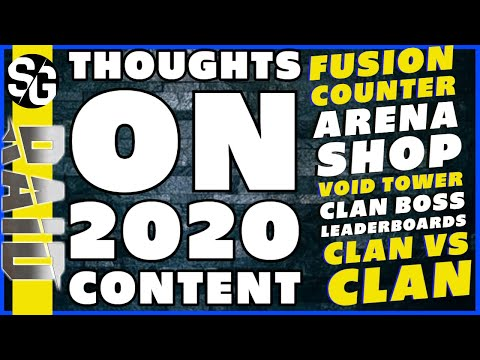 RAID SHADOW LEGENDS | THOUGHTS ON 2020 CONTENT | CLAN VS CLAN ARENA SHOP VOID TOWER COUNTER FUSION