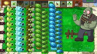 Plants vs Zombies - Hypno Shroom vs Gatling Pea vs Gargantuar