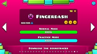 "Geometry Dash – ""Fingerdash"" 100% Complete [All Coins] | GuitarHeroStyles"