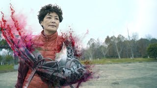 Grandma with super power(special effects)