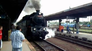 Odjezd parní lokomotivy řady 433 001