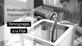 Modélisation et impression 3D / Témoignages de la formation générale des adultes