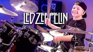 Good Times Bad Times (Drum Cover) 8 year old Drummer - Avery Drummer Molek