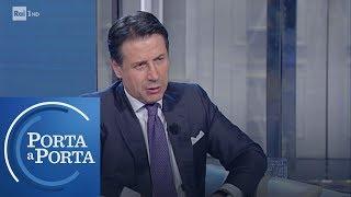 Giuseppe Conte sul caso degli immigrati in acque maltesi - Porta a porta 08/01/2019