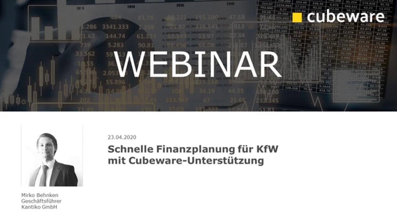 Cubeware Partner-Webinar: Schnelle Finanzplanung für KfW mit Cubeware-Unterstützung