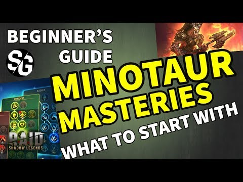 [RAID SHADOW LEGENDS] BEGINNERS GUIDE MINOTAUR & MASTERIES