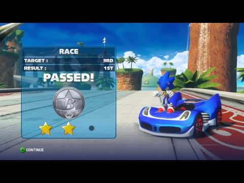Sonic & Sega All Stars Racing Transformed Pc Version Ep.1 Learning The Controls