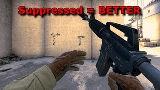 CSGO Suppressor comparison - With and without