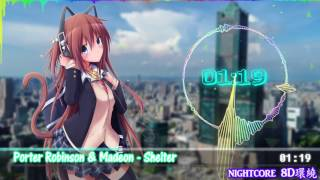 【Nightcore】【8D環繞】Porter Robinson & Madeon - Shelter