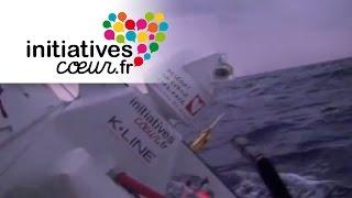 Départ à l'abattée du bateau Initiatives-Coeur sur la Route du Rhum