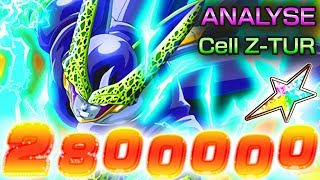 Analyse: ZTUR Cell Parfait TEC (0 à 100%) - Best Z-TUR ?! | Dragon ball z Dokkan Battle