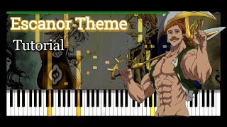 Escanor Theme (sunSHINE) - piano tutorial [Seven Deadky Sins]
